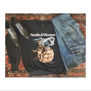 Original vintage Smith & Wesson gun sweatshirt!